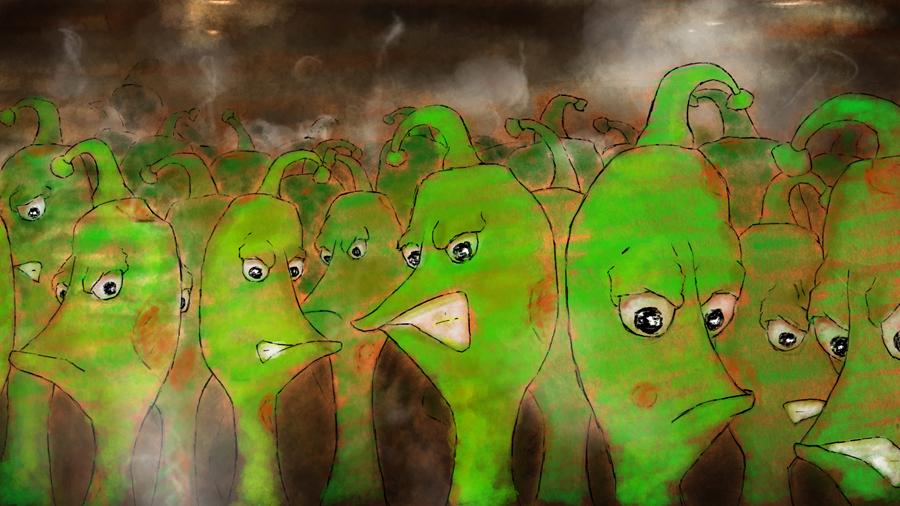 angry beans illustration - watosay belgium sambreville