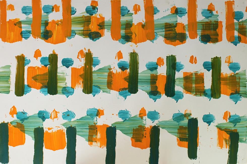 Peinture abstraite - WATOSAY artiste Belge