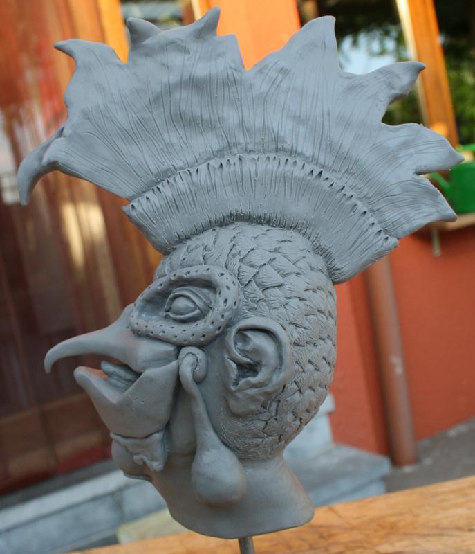 Sculpture personnage imaginaire
