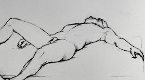 Anatomy drawings – Charcoal – 2011-2012 – Tamines