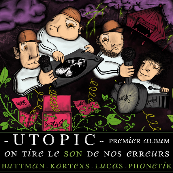 Utopic - On tire le son de nos erreurs (pochette Watosay)