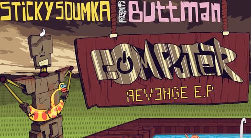 "RECORD COVER: Buttman – ""Computer Revenge"" EP – 2010"