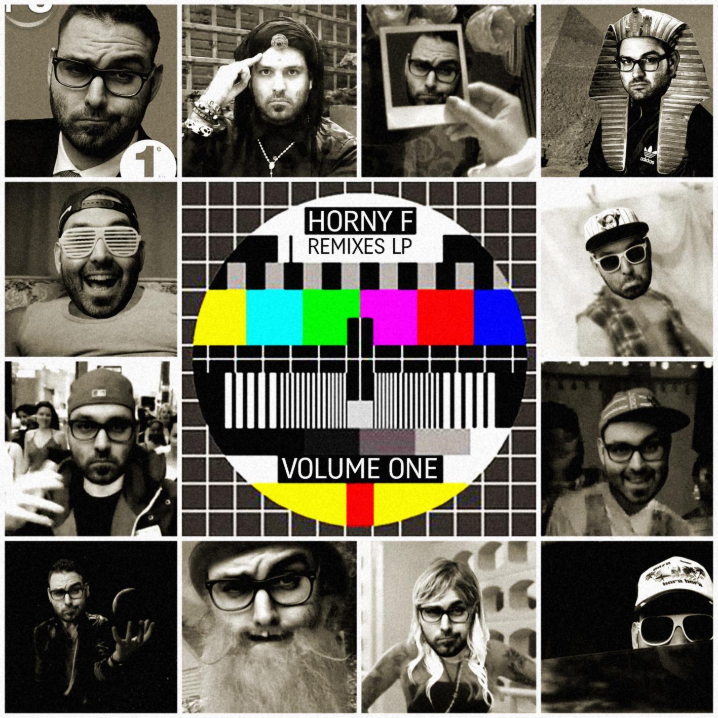 HORNY F remixes lp vol 1 record cover