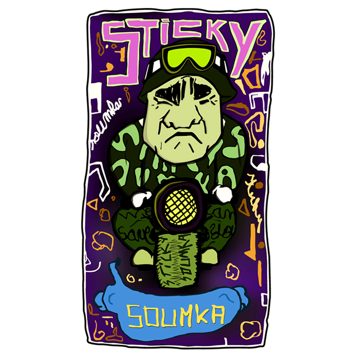 illustration sticky soumka visit card 2010