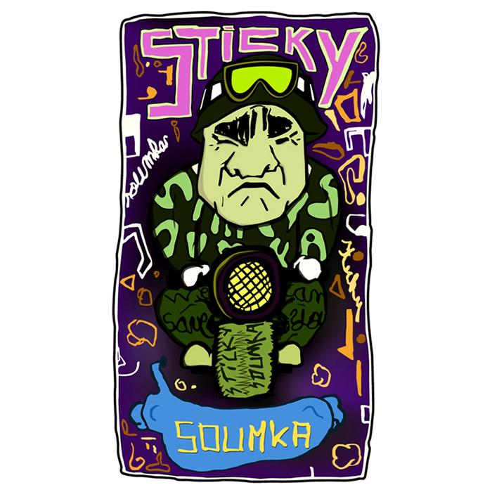 illustration sticky soumka visit card 2010