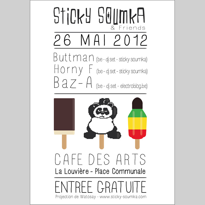 Cafe des arts poster Sticky Soumka