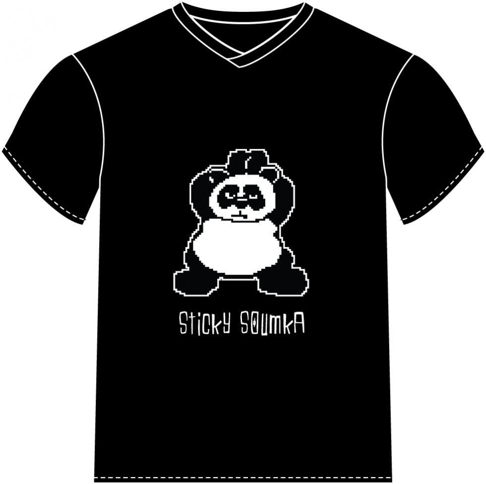 T-shirt panda Sticky Soumka by Watosay - 2012